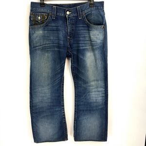 True Religion Hand Sanded Boot Cut Jeans